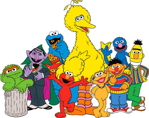 Layoffs On Sesame Street on oscar in old english letters