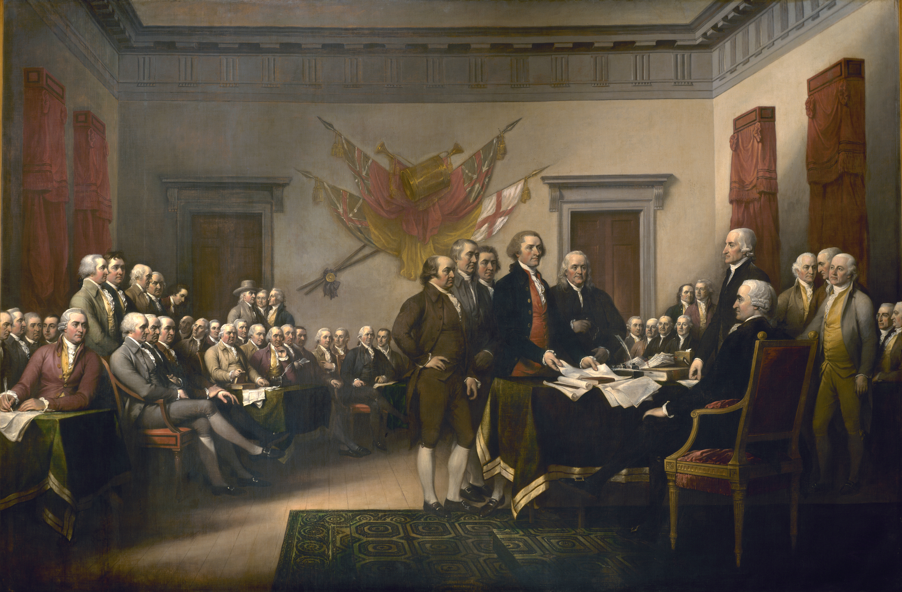 The Declaration of Independence by John Trumbull, 1817