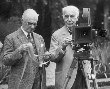 George Eastman (left) with Thomas Edison