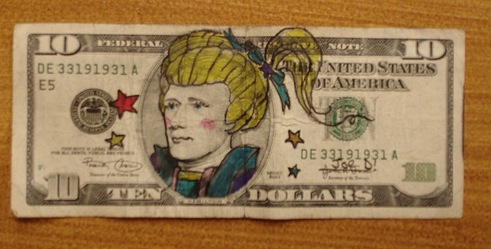 Dollar Bill Art by Scott Campbell